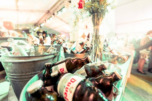 Bier in crushed ice festival